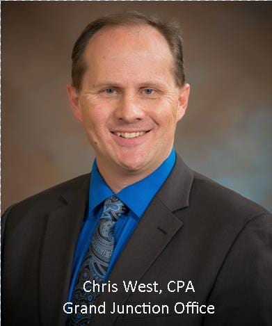 Chris West, CPA, Grand Junction Office |new 20% tax deduction for small business | Dalby, Wendland & Co | CPAs and Business Advisors | Grand Junction CO