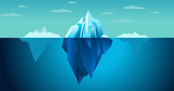 iceberg floating in sea graphic | TCJA: Personal Exemptions, Standard Deductions, Tax Credits | Dalby Wendland & Co | Accountants | Business Advisors | Grand Junction CO | Glenwood Springs CO | Montrose CO