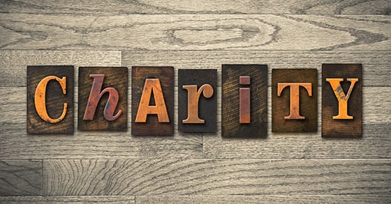 the word charity written in wooden blocks | charitable deductions | Dalby Wendland & Co | CPAs | Tax Advisors | Colorado | Grand Junction | Glenwood Springs | Montrose