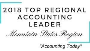 2018 Top Regional Accounting Leader Mountain States Region | top regional accounting firm | Dalby Wendland & Co. | CPAs | Business Advisors | Colorado