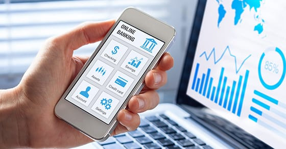 Online banking on smartphone with businessman showing screen   digital assets and estate planning   Dalby Wendland & Co.   CPAs   Business Advisors   Grand Junction CO   Glenwood Springs CO   Montrose CO