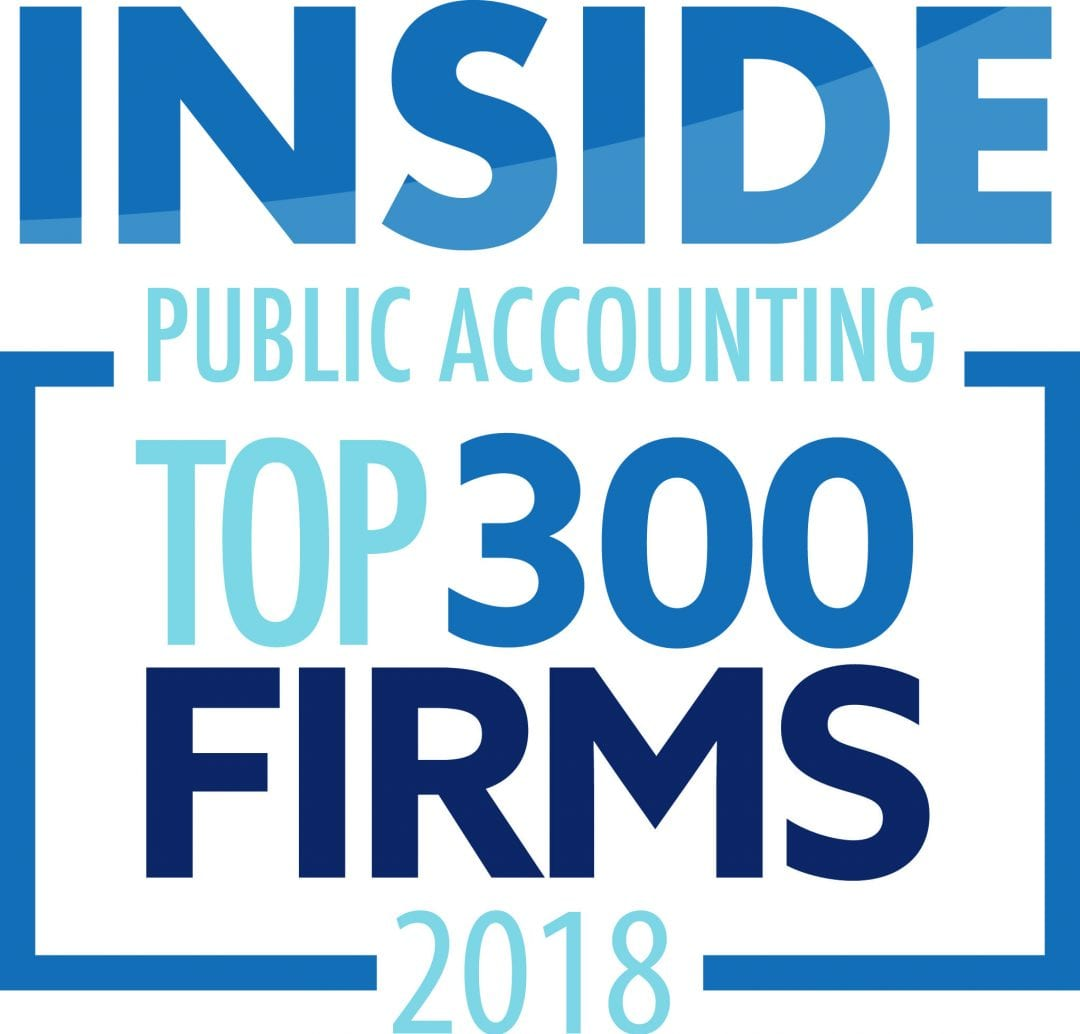 Inside Public Accounting Top 300 Public Accounting Firms 2018 logo| Dalby Wendland in Top 300 Public Accounting Firms | Dalby, Wendland & Co., P.C. | CPAs | Business Advisors | Grand Junction CO | Glenwood Springs CO | Montrose CO