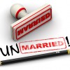 red ink stamp with words unmarried couples