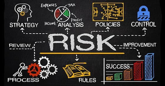 image of words indicating ways to offset business risks | audit risk assessment | Dalby, Wendland & Co., P.C. | CPAs | Business Advisors | Grand Junction CO | Glenwood Springs CO | Montrose CO