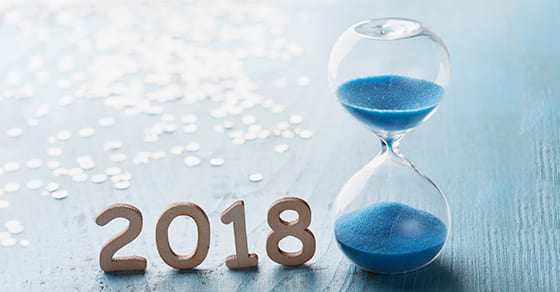 hourglass and year 2018 | 2018 business tax planning| Dalby, Wendland & Co., P.C. | CPAs | Business Advisors | Grand Junction, CO | Glenwood Springs, CO | Motnrose, CO