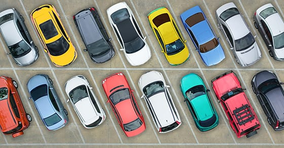 parking lot full of cars | 2019 Business Auto Deductions and Mileage Rates | Dalby, Wendland & Co., P.C. | CPAs | Business Advisors | Grand Junction CO | Glenwood Springs CO | Montrose CO