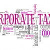 corporate tax and finance words graph
